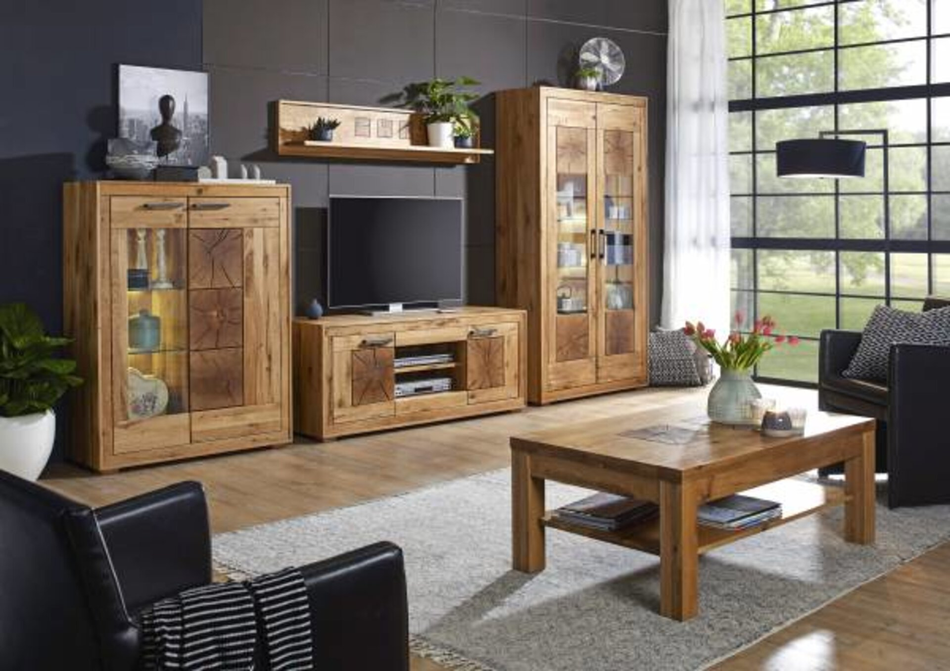 Vitrine WZ-0315 CELECT Holz mehrfarbig 40 x 201 x 106 cm