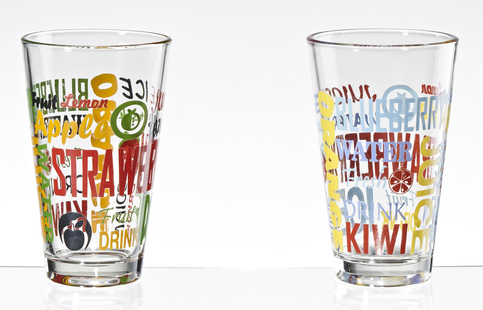 Trinkglas 184814 Casa Nova Glas mehrfarbig