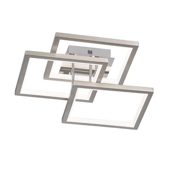 Deckenleuchte Wofi Leuchten Kunststoff nickel ca. 58 cm x 17 cm x 58 cm