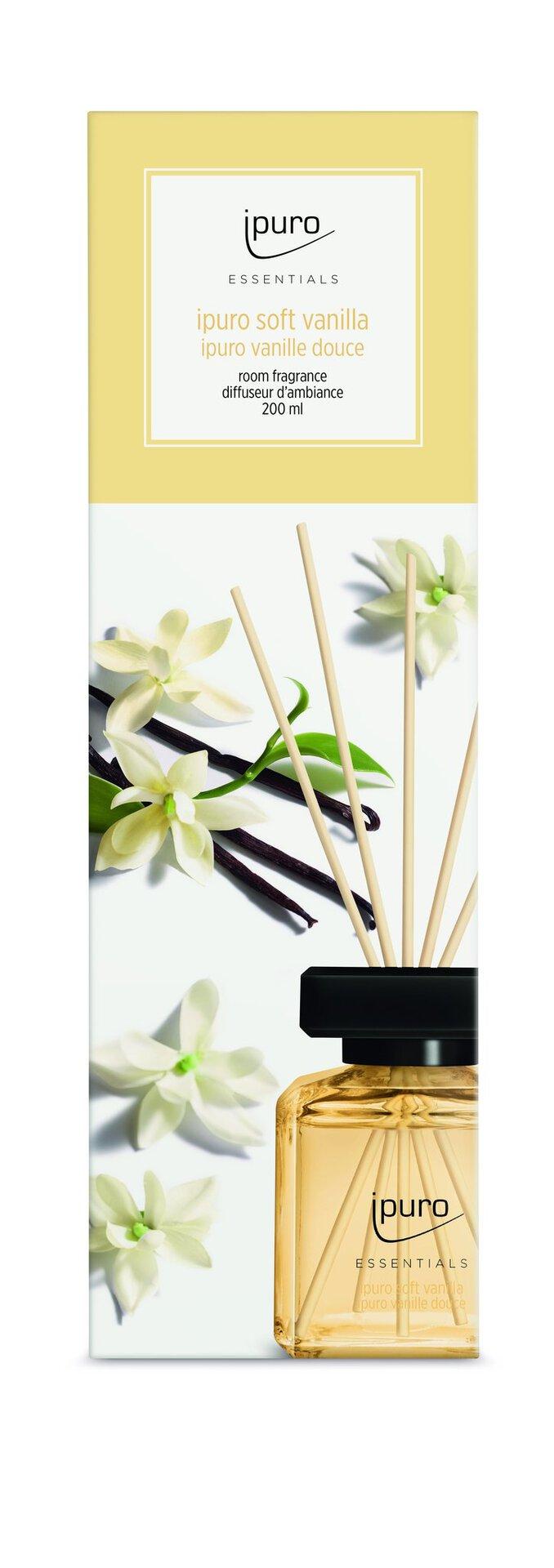 Raumduft soft vanilla ipuro Kunststoff transparent