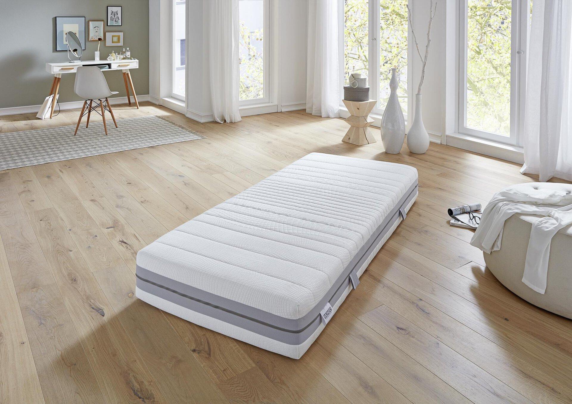 Matratze PERFECT NIGHT PLUS MONDO Textil weiß 200 x 25 x 90 cm