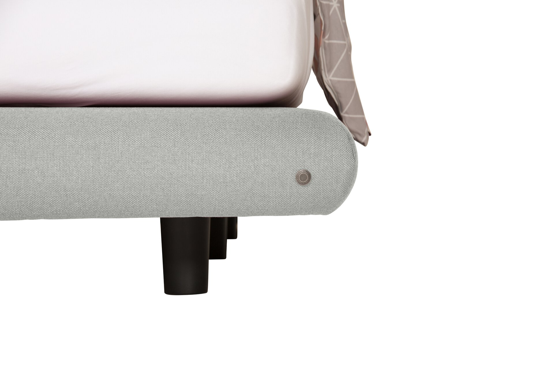 Boxspringbett SOHO PILLOW Tom Tailor Textil grau 206 x 120 x 227 cm