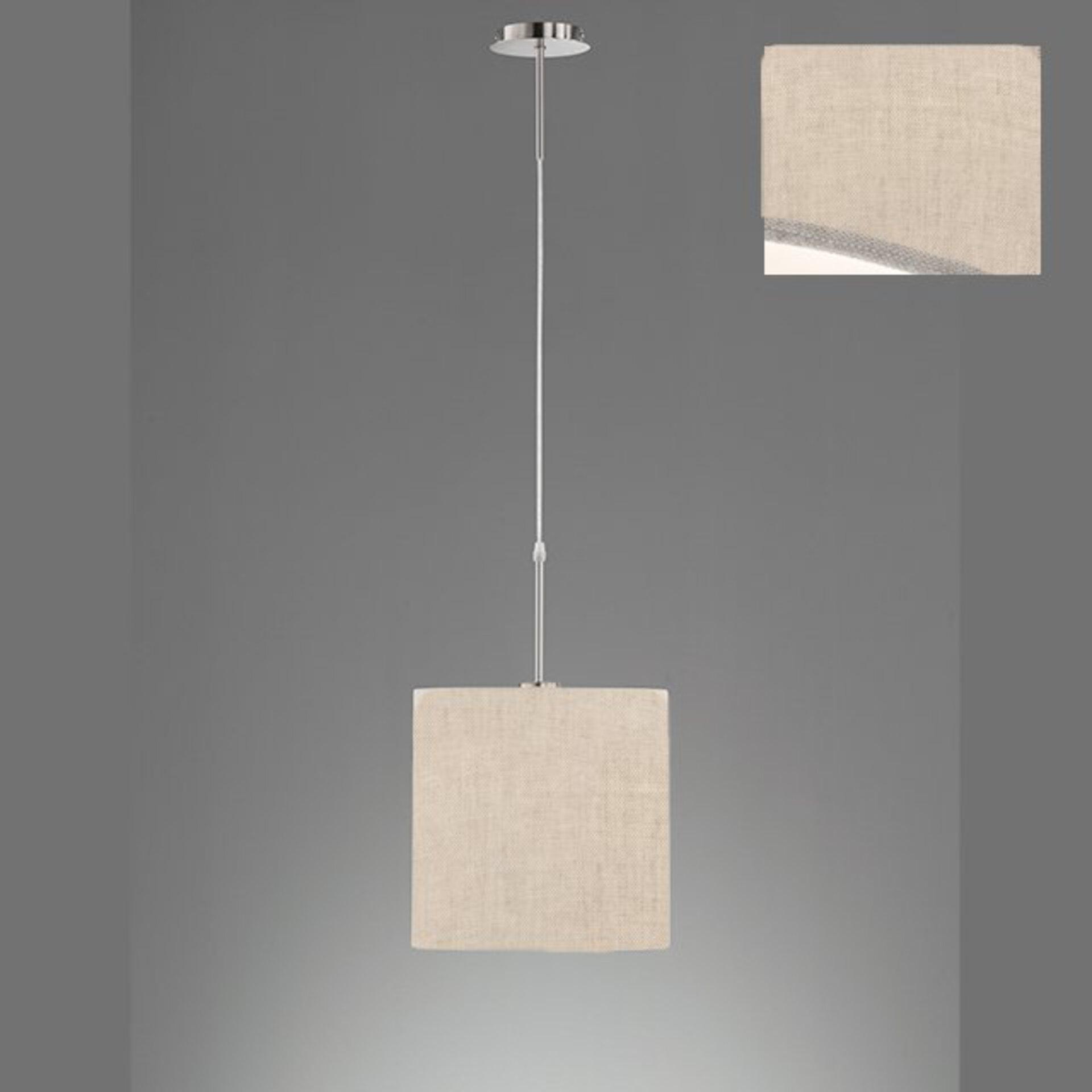 Hängeleuchte Marie Fischer-Honsel Textil beige 30 x 140 x 30 cm