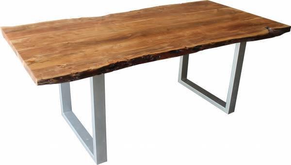 Esstisch Dinett Holz, Metall Akazie massvi