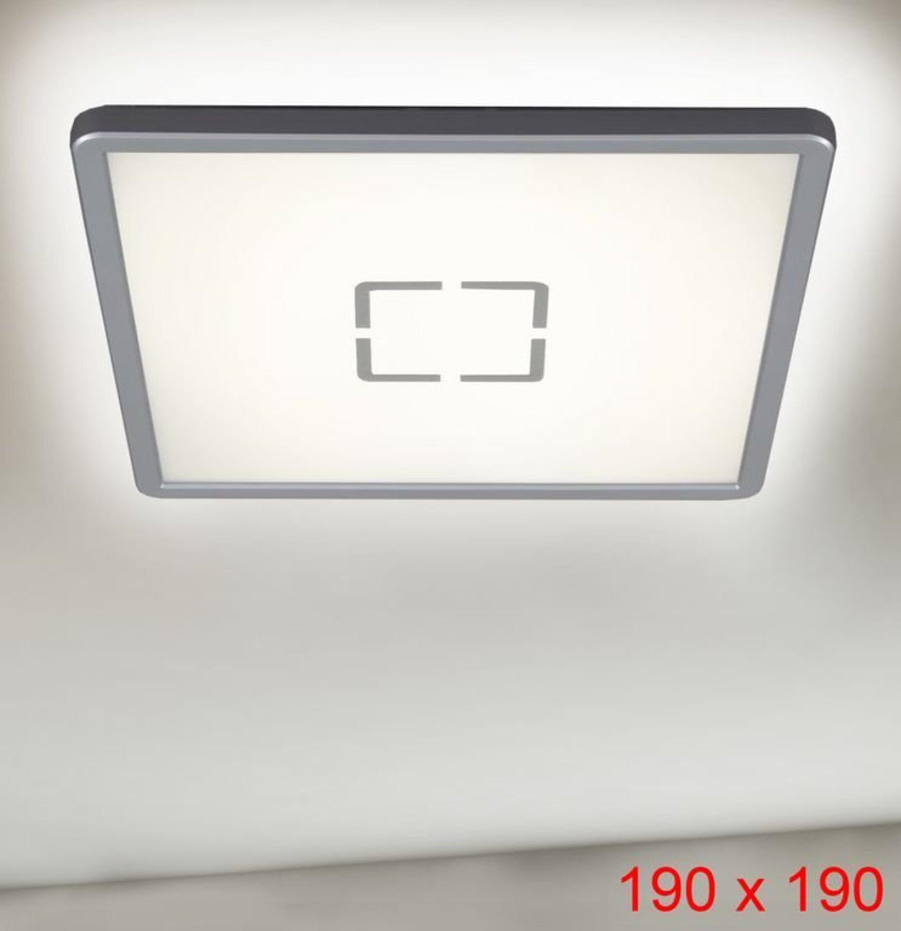 Deckenleuchte Free Briloner Metall weiß 19 x 3 x 19 cm