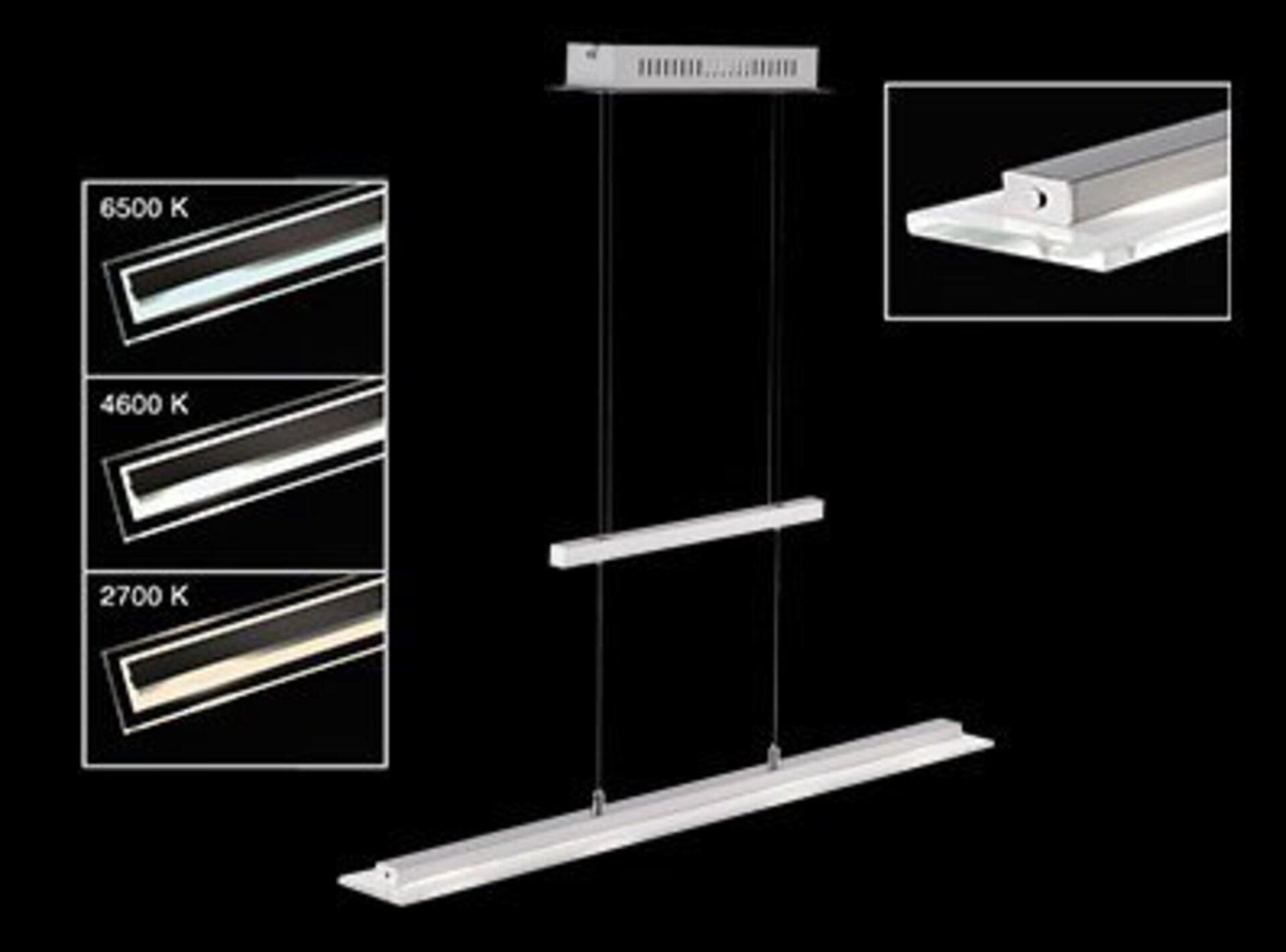 Hängeleuchte Tenso TW Fischer-Honsel Metall silber 9 x 150 x 64 cm