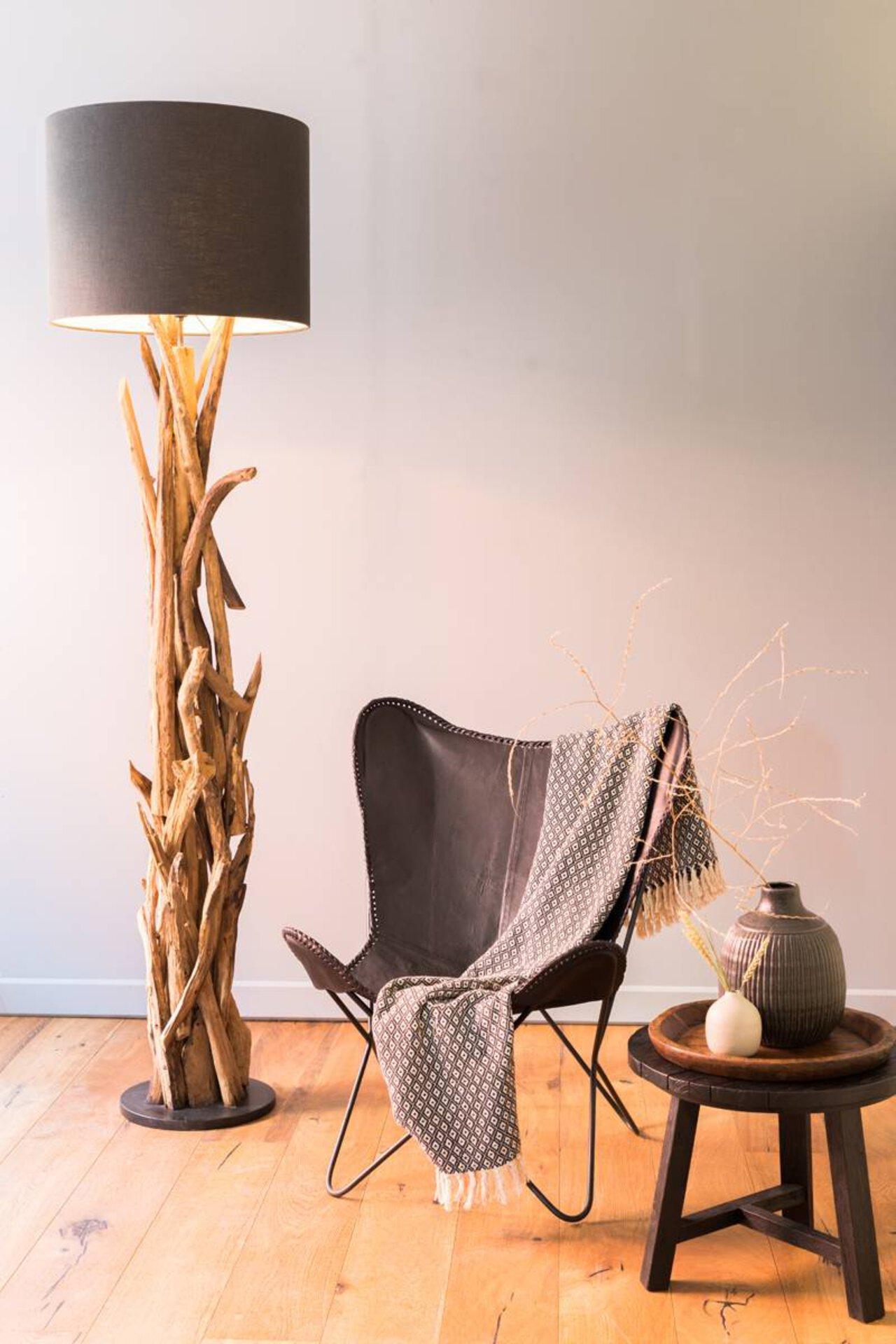 Stehleuchte VIDIN Light & Living Metall braun 35 x 182 x 35 cm