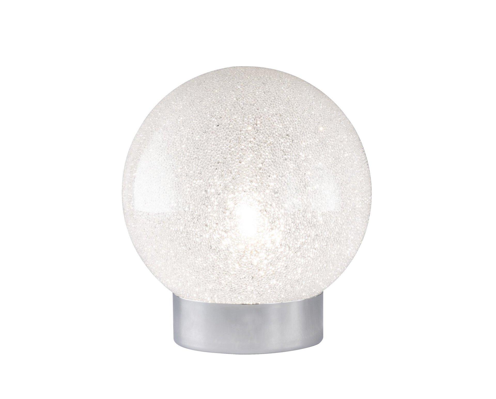 Tischleuchte Carat Wofi Leuchten Glas silber 15 x 15 x 15 cm
