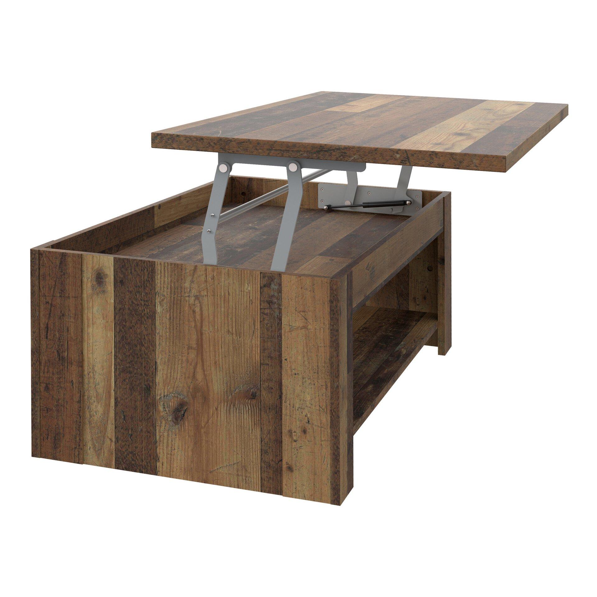 Couchtisch CLIF CELECT Holzwerkstoff braun 65 x 46 x 110 cm