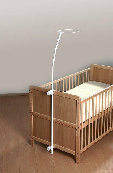 Babybett Alvi Metall Metall Weiss lackiert