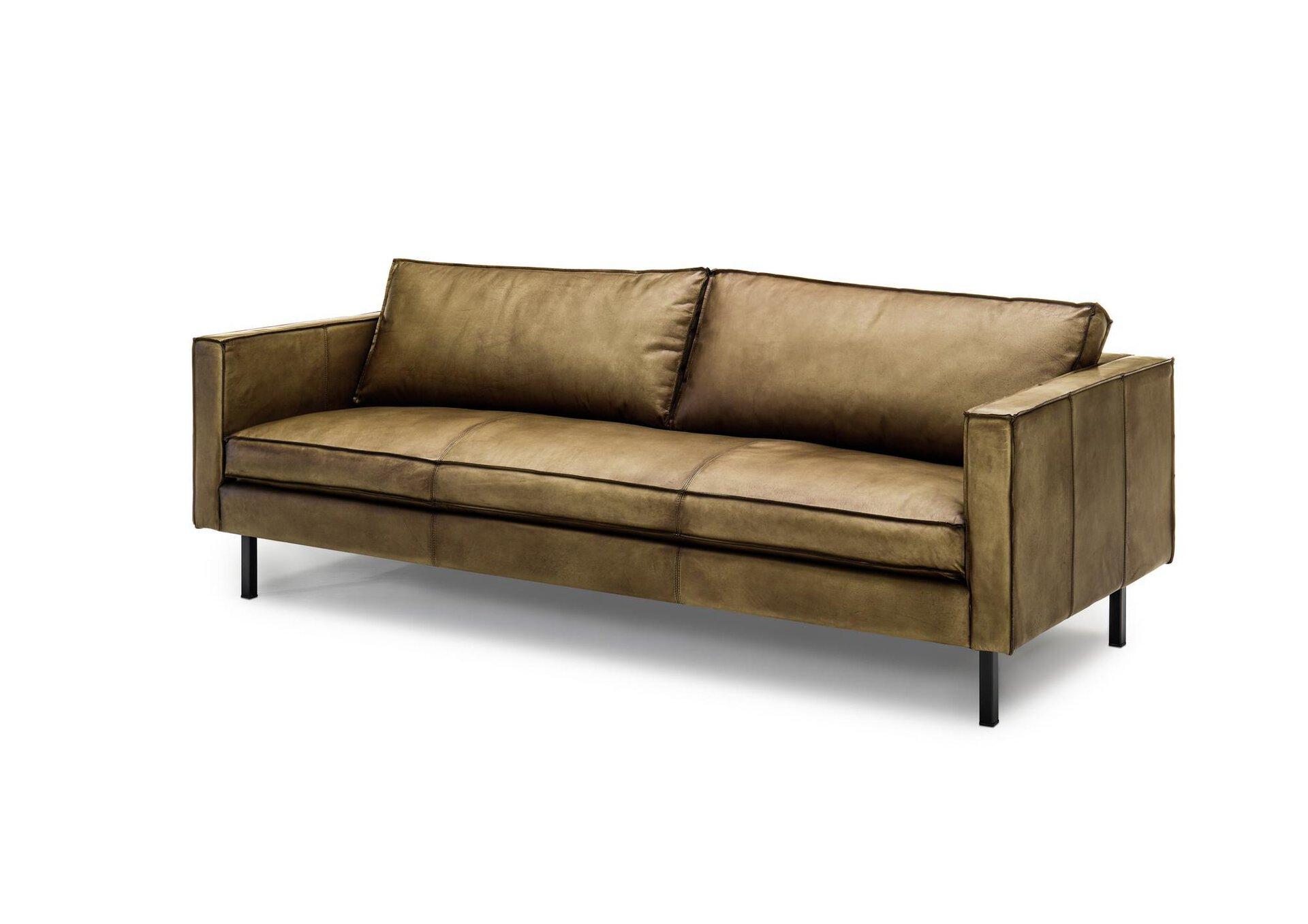 Sofa 3-Sitzer WK6001 FINLAND 231 WK Wohnen Edition Leder braun 93 x 82 x 221 cm