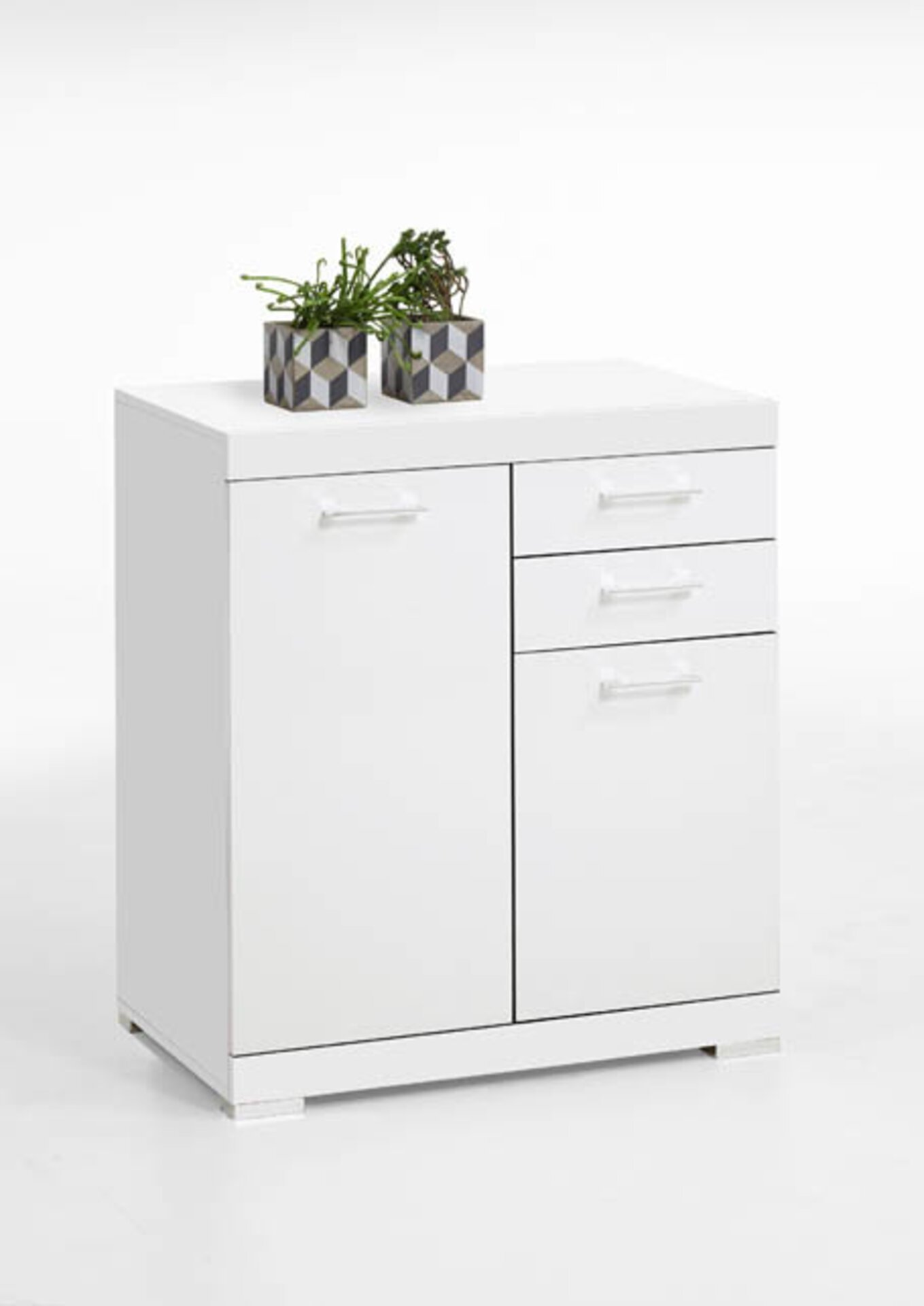 Kommode inbuy Holzwerkstoff weiß 90 x 50 x 80 cm