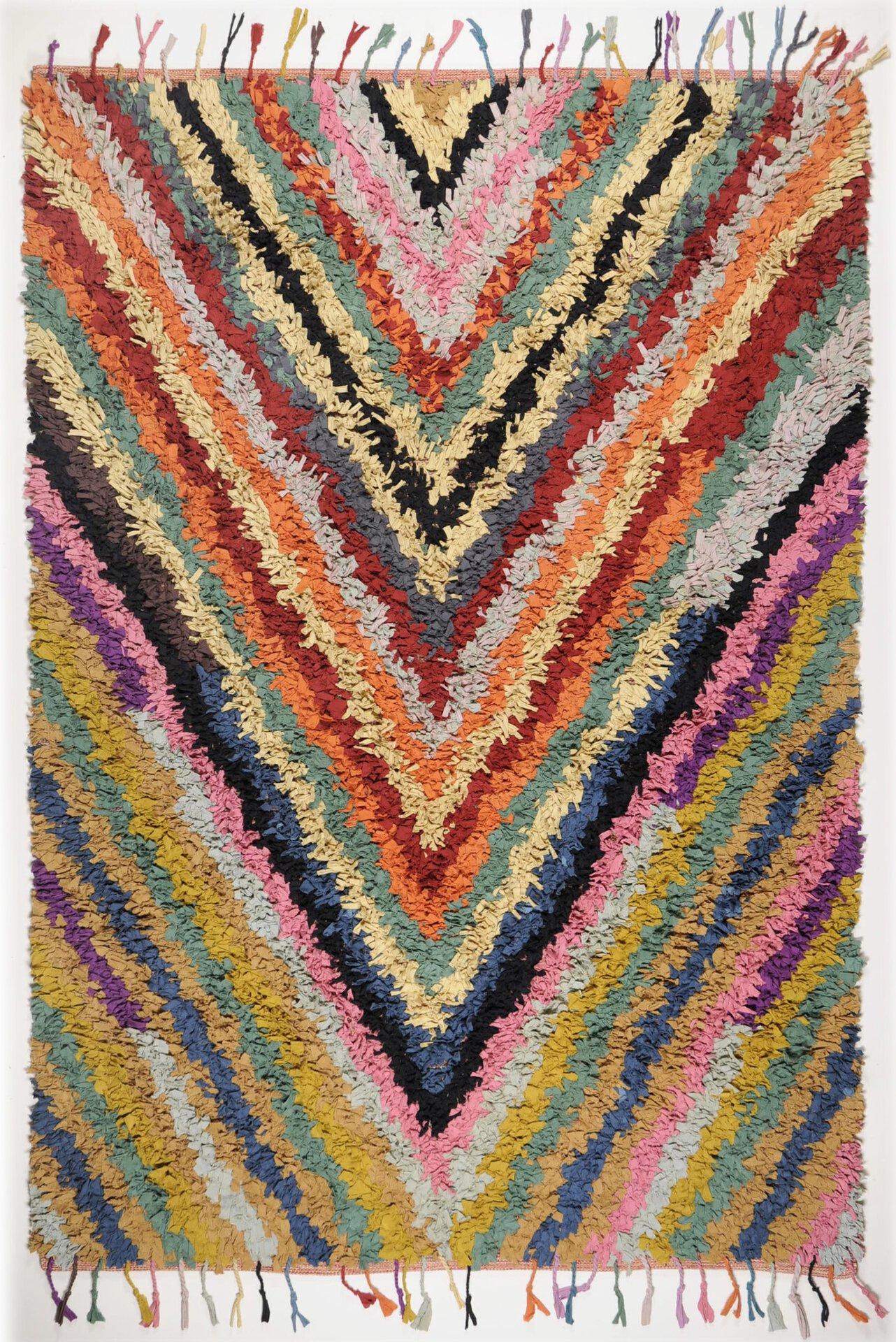Handwebteppich Woven Rug Theko Textil mehrfarbig 1 x 2 cm