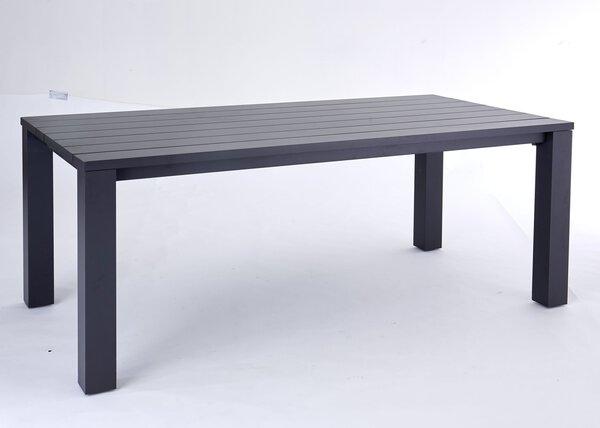 Gartentisch Outdoor Metall Gestell grau ca. 75 cm x 100 cm x 200 cm
