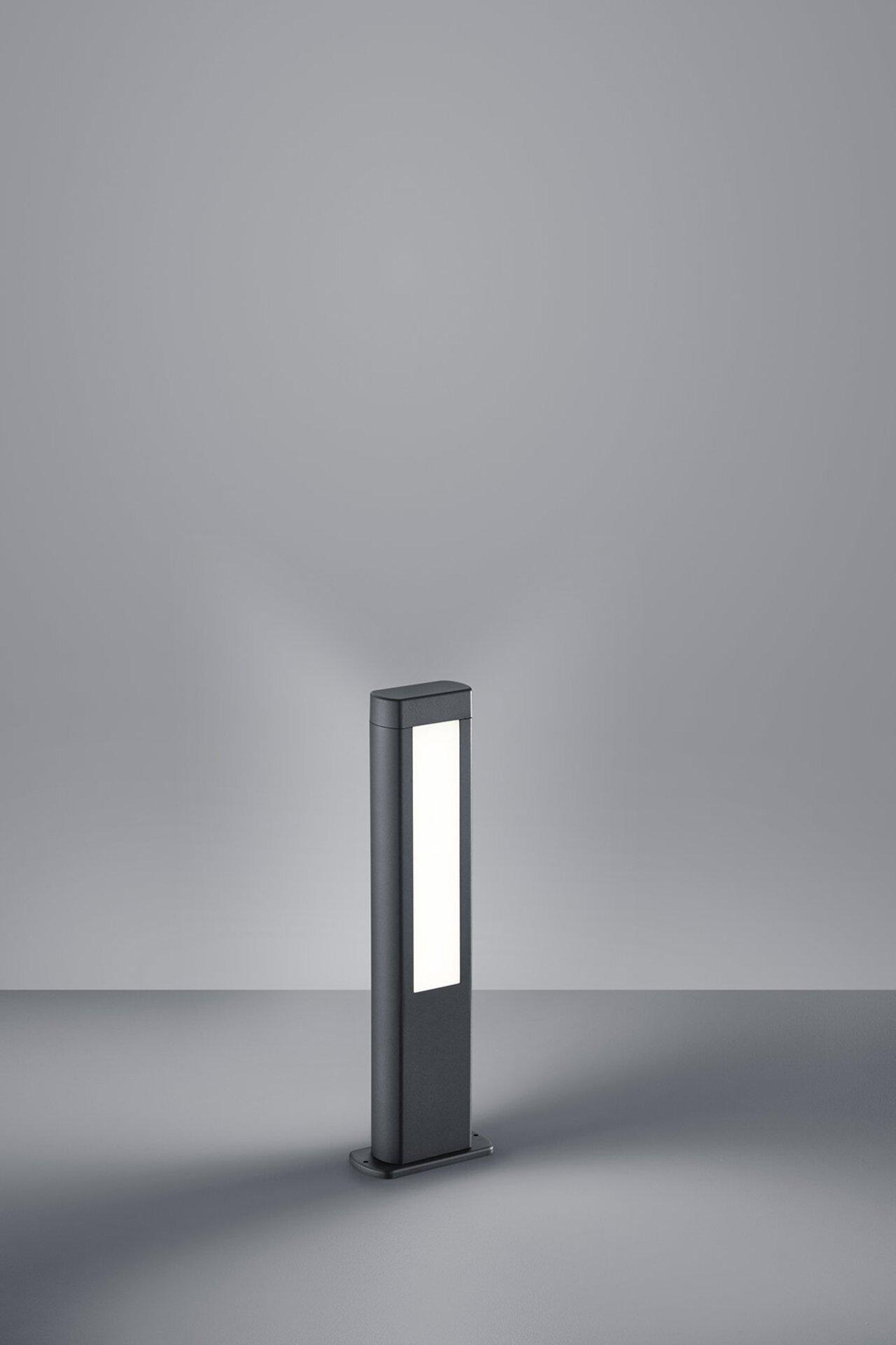 Wege-Außenleuchte Rhine Trio Leuchten Metall grau 50 x 16 cm