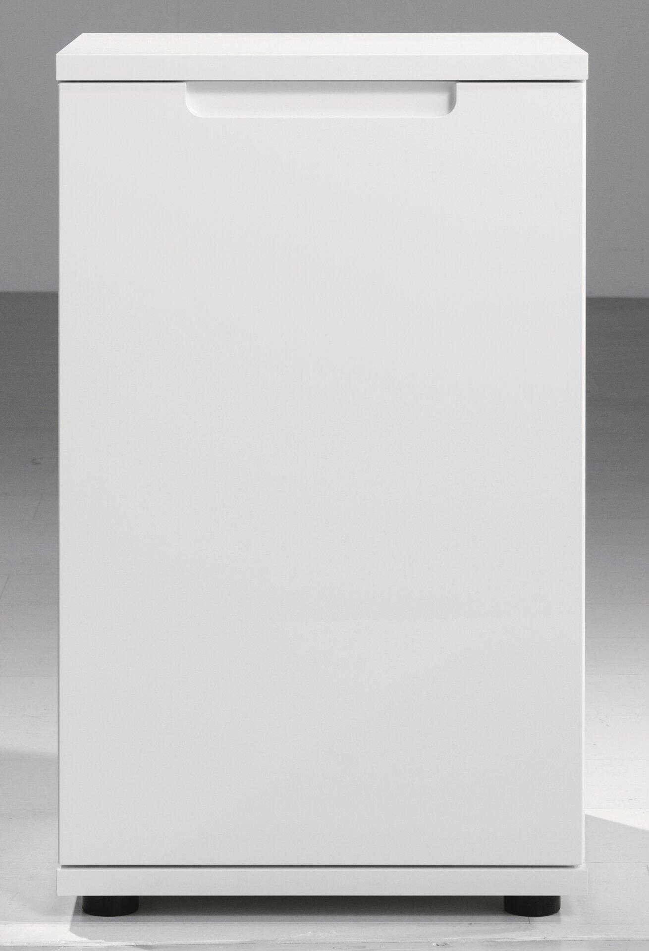 Kommode NELLI SELF Textil weiß 40 x 74 x 45 cm