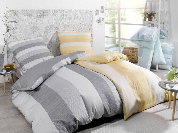 Satin-Bettwäsche Tom Tailor Textil silber/grau