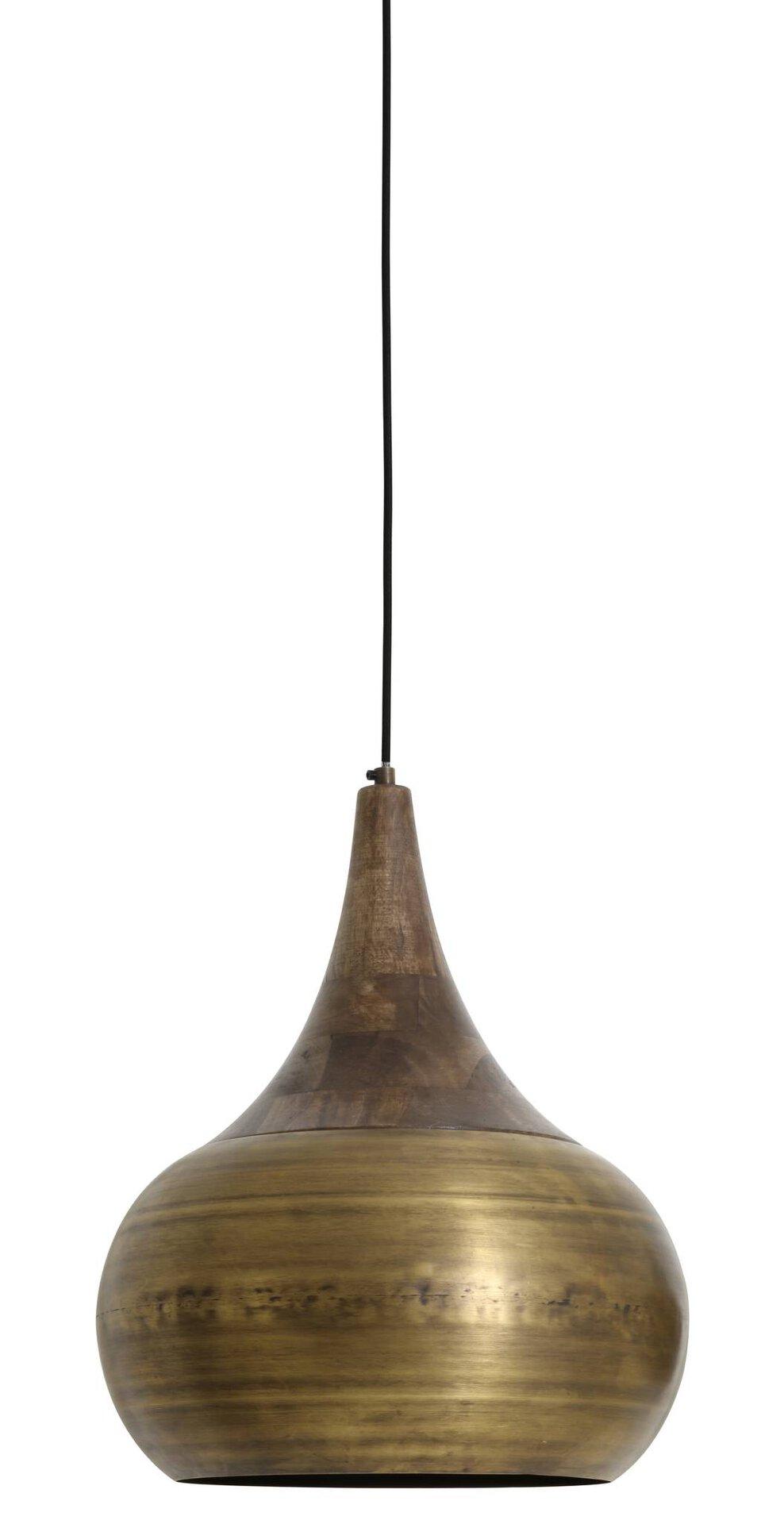 Hängeleuchte SAIDA Light & Living Metall braun 46 x 166 x 35 cm