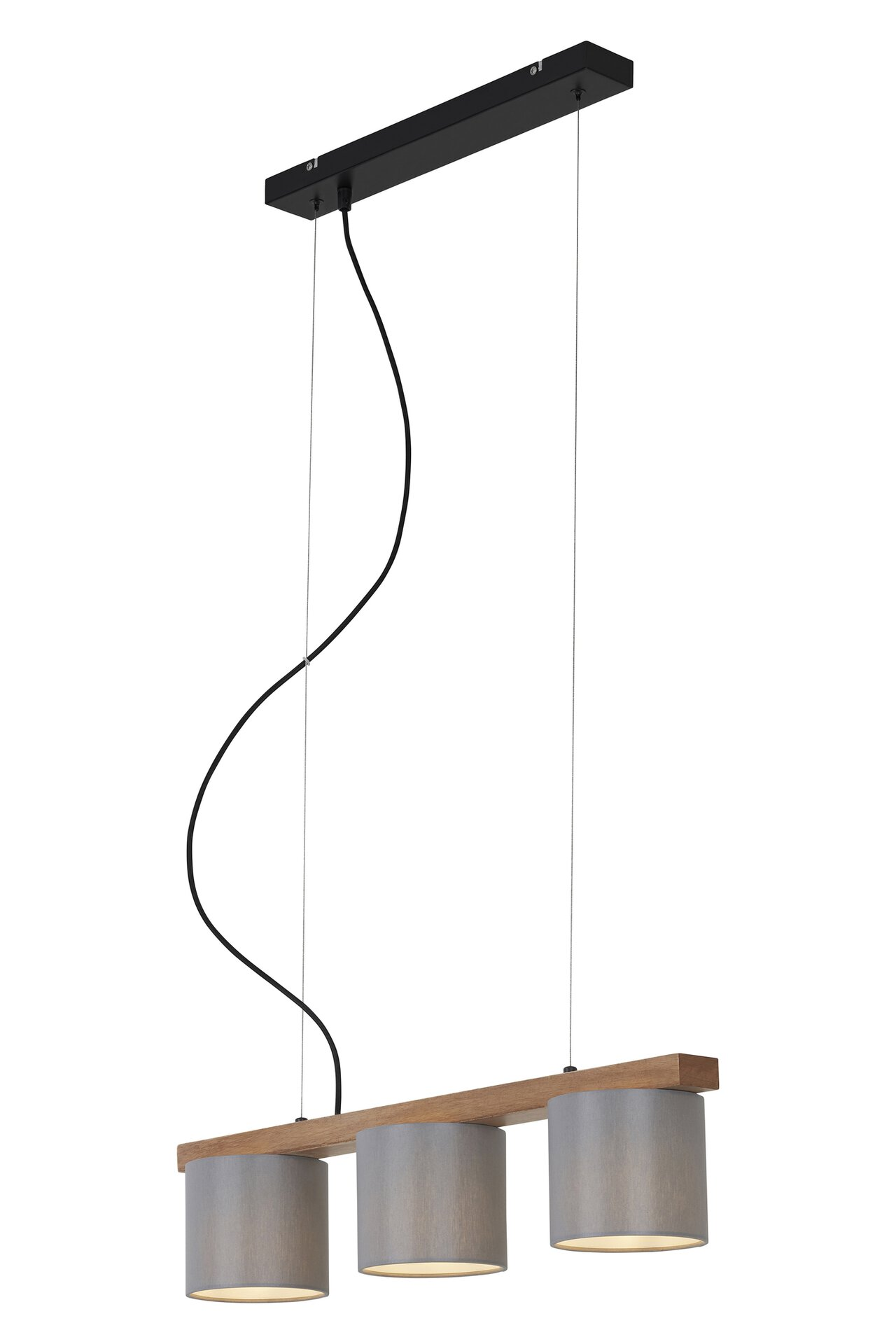 Hängeleuchte WOOD & STYLE Briloner Metall braun 15 x 136 x 65 cm