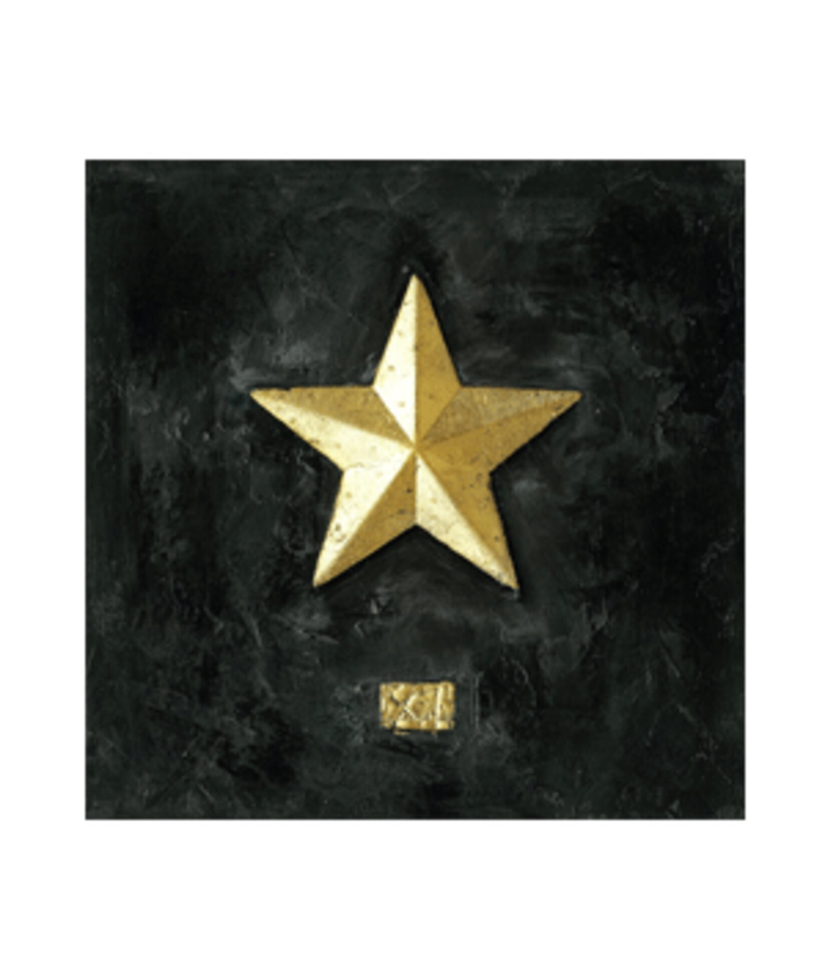 Bild mit goldenem Stern
