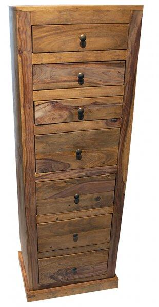 Highboard Dinett Holz Sheesham gebeizt ca. 33 cm x 142 cm x 50 cm