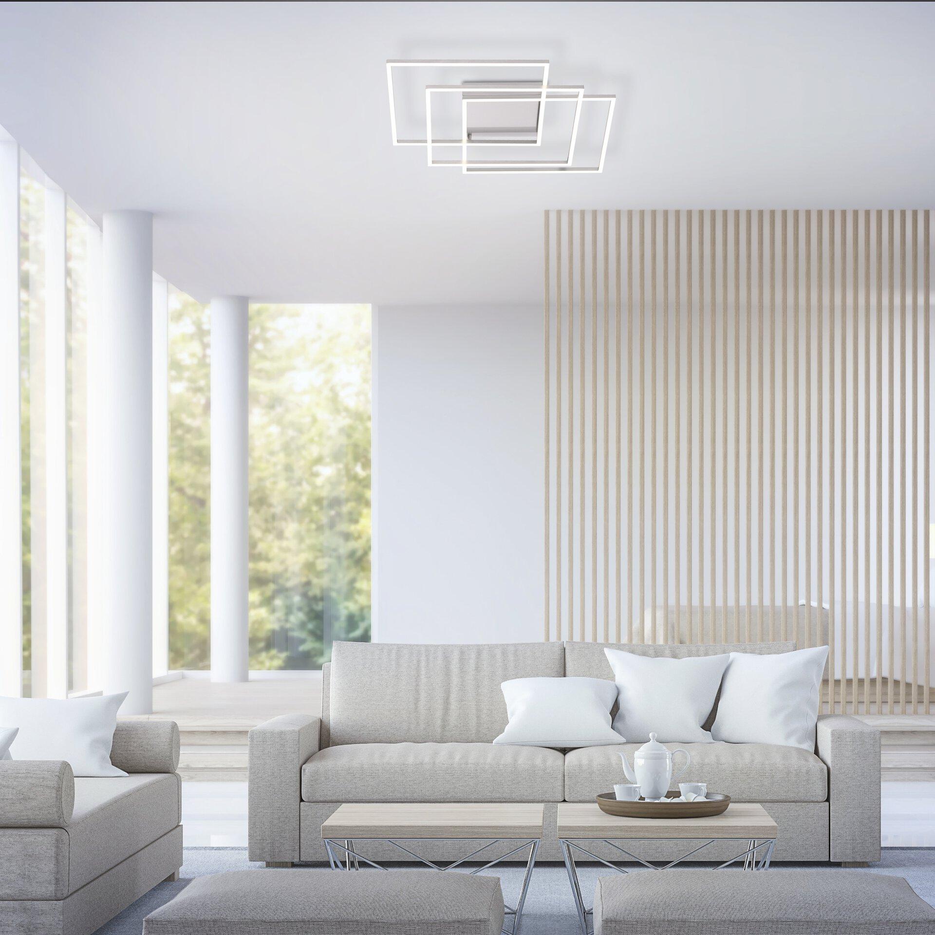 Smart-Home-Leuchten Q-INIGO Paul Neuhaus Metall 60 x 8 x 60 cm