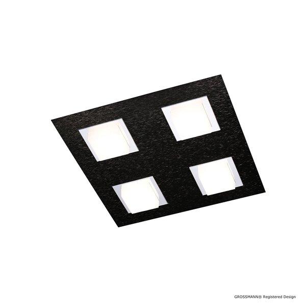 Deckenleuchte Grossmann  Metall schwarz ca. 30 cm x 5 cm x 30 cm