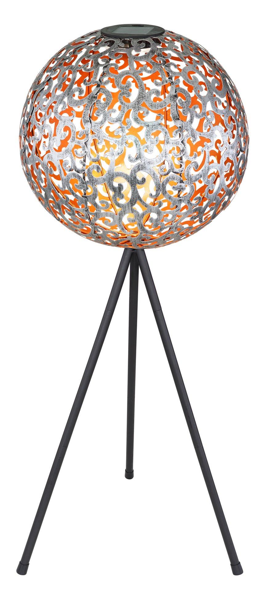 Solarleuchte Solar 3-Bein Globo Metall silber 29 x 80 x 29 cm