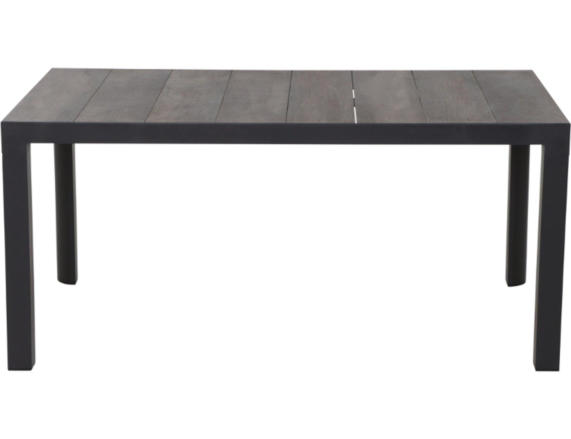 Gartentisch Silva Dining Tisch Siena Garden Metall grau 90 x 74 x 140 cm