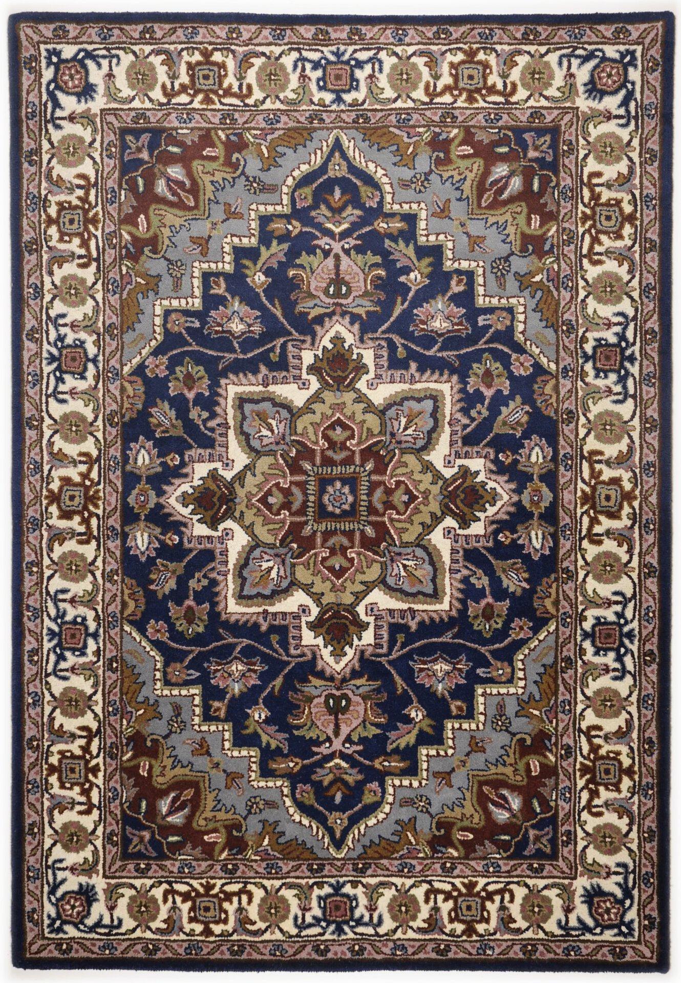 Handtuftteppich Royal Heriz Theko Textil Blau