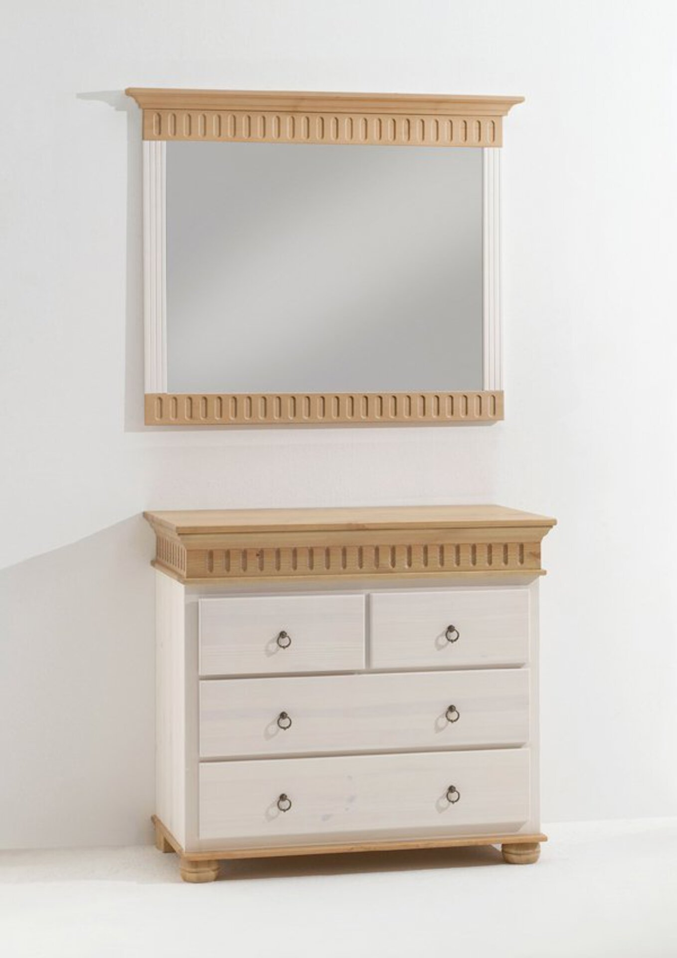 Spiegel HELSINKI Dreamoro Holzwerkstoff weiß 7 x 86 x 105 cm