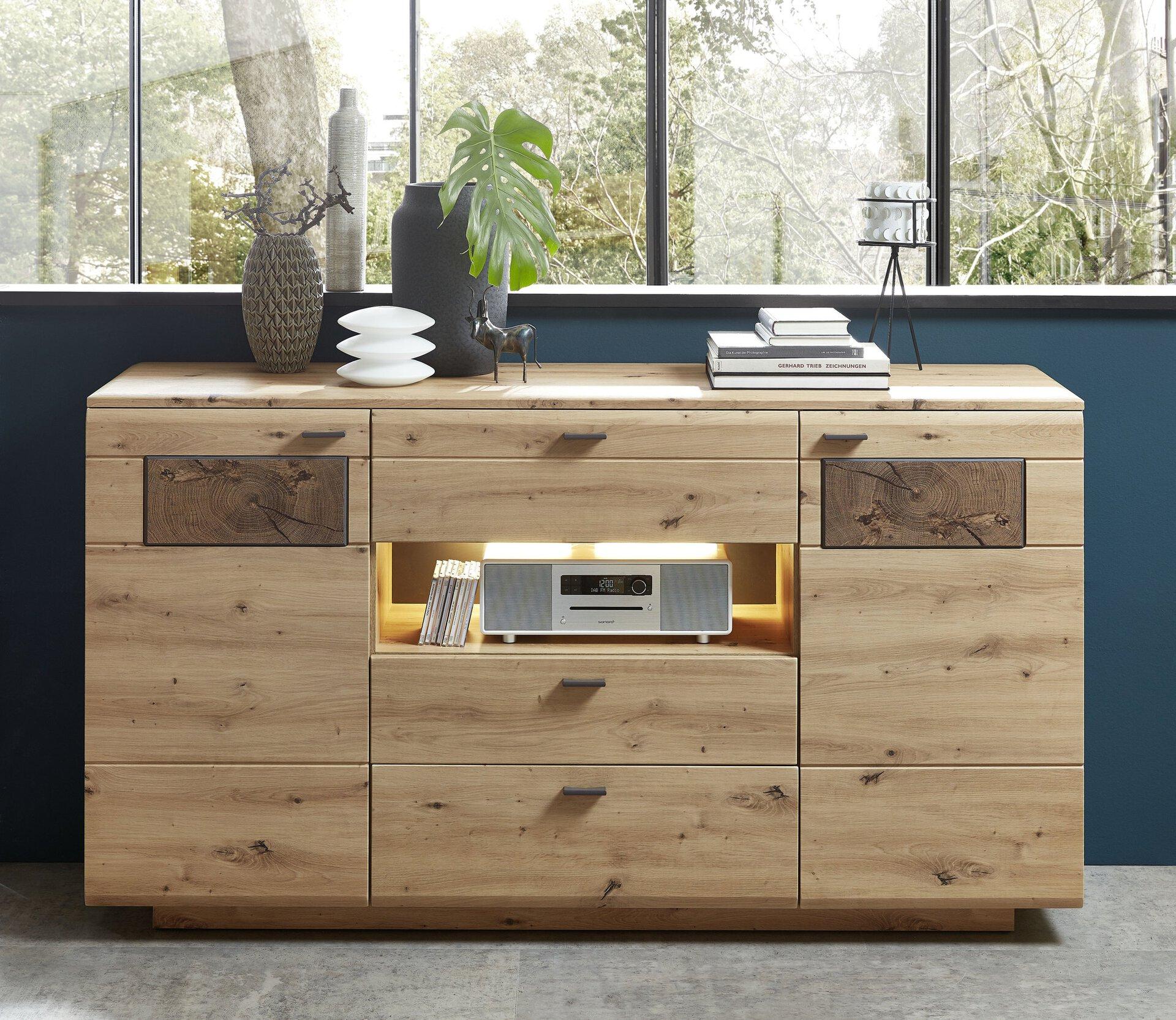 Sideboard LAVADO Vito Holzwerkstoff braun 47 x 98 x 175 cm