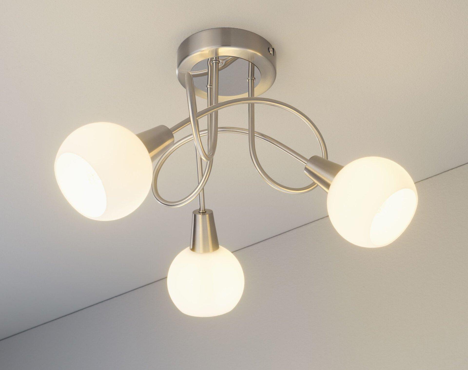 Deckenleuchte Lina II Casa Nova Metall silber 45 x 23 x 45 cm