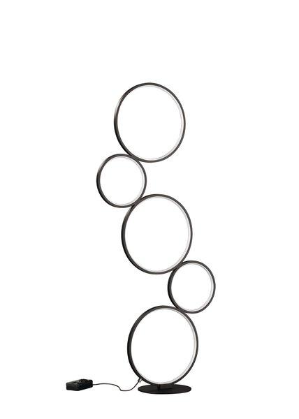 Stehleuchte Trio Leuchten Metall schwarz ca. 20 cm x 115 cm x 47 cm