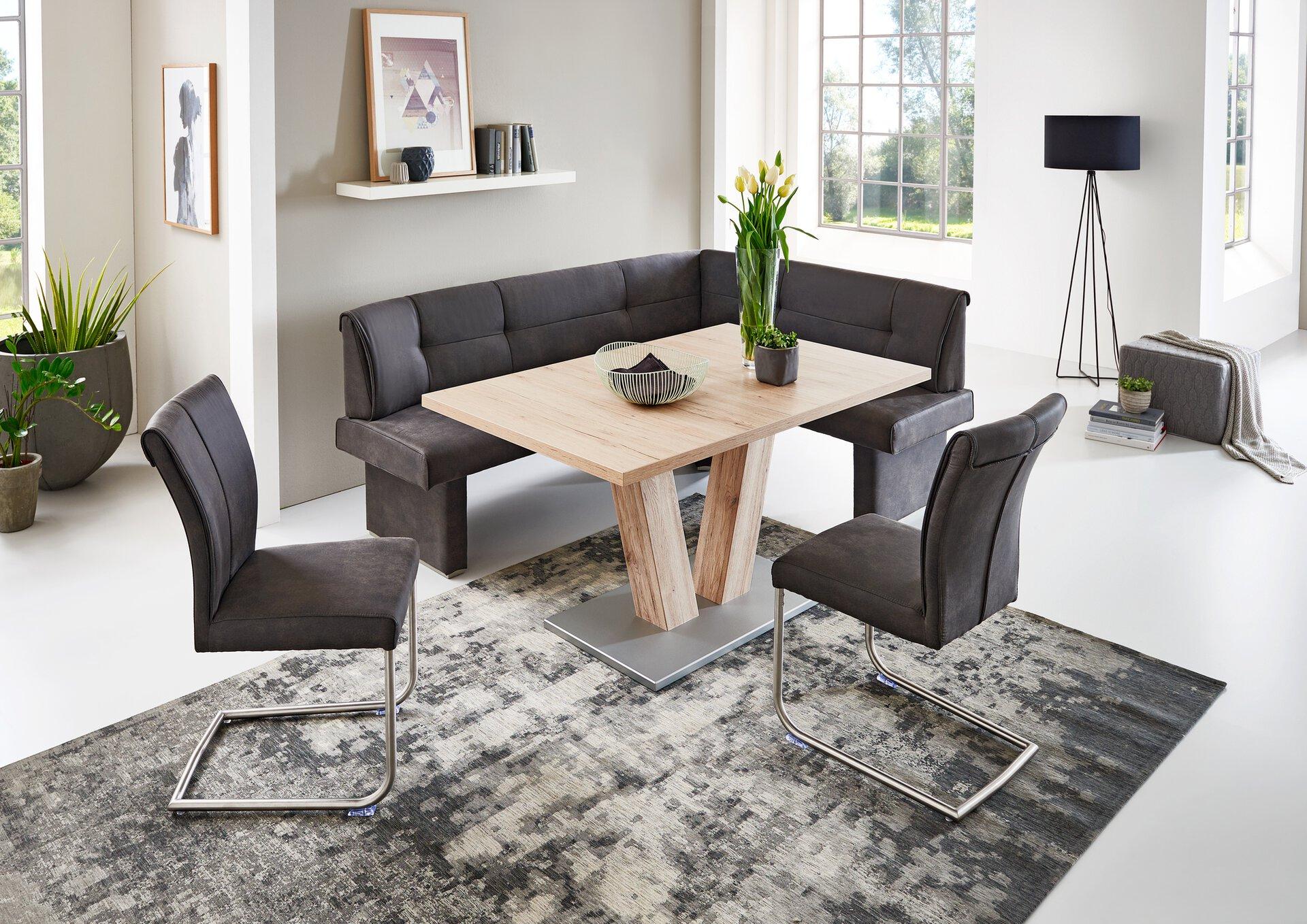 Eckbank LISA Niehoff Sitzmöbel Textil grau 2 x 2 cm