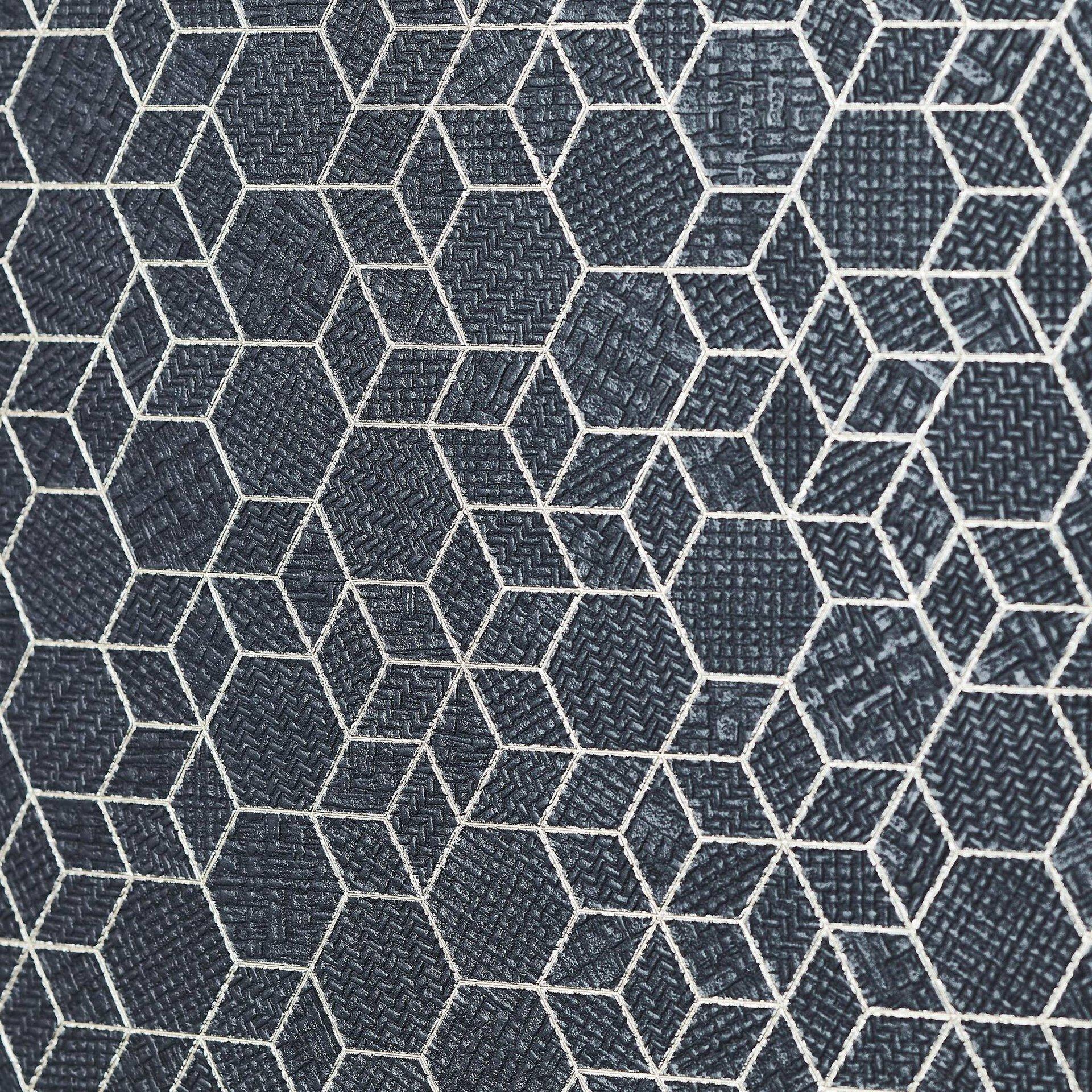 Tischleuchte GALANCE Brilliant Textil schwarz 25 x 46 x 25 cm