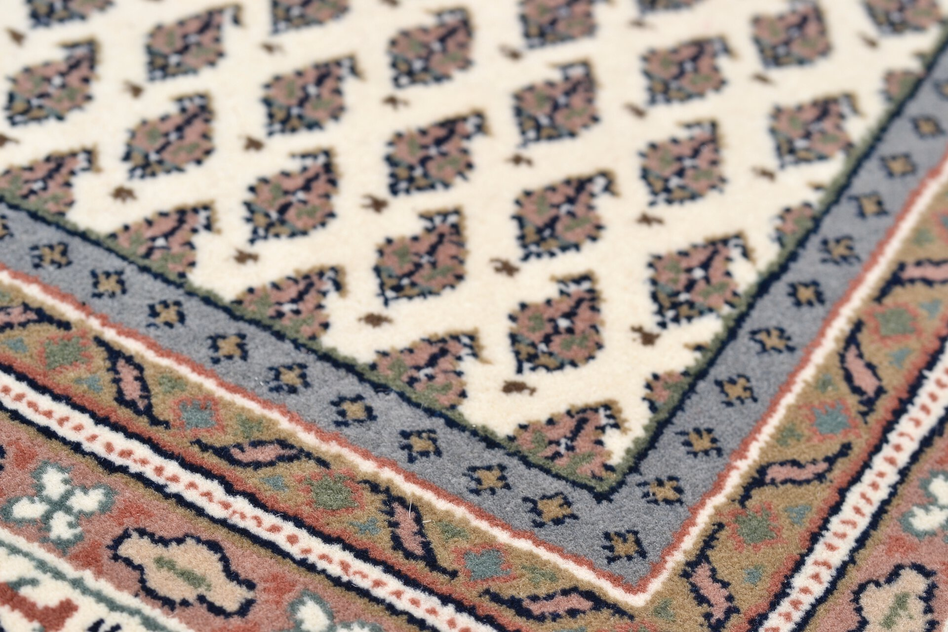 Handknüpfteppich Abbas Meraj Theko Textil braun 1 cm