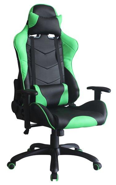 Büro-Drehstuhl CELECT Kunststoff, Textil schwarz, grün ca. 66 cm x 130 cm x 65 cm