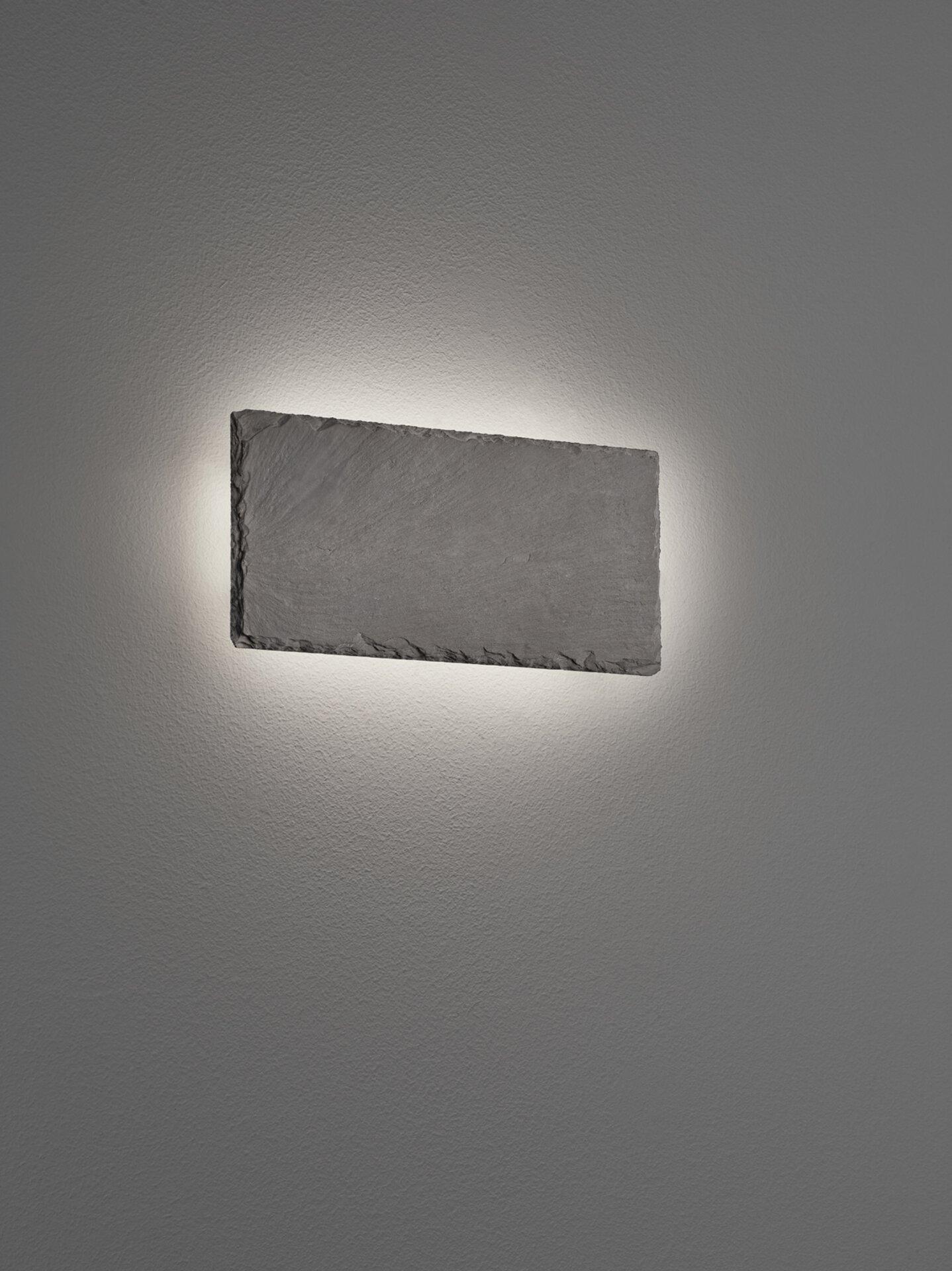 Wandleuchte Raven Trio Leuchten Stein schwarz 4 x 12 x 25 cm