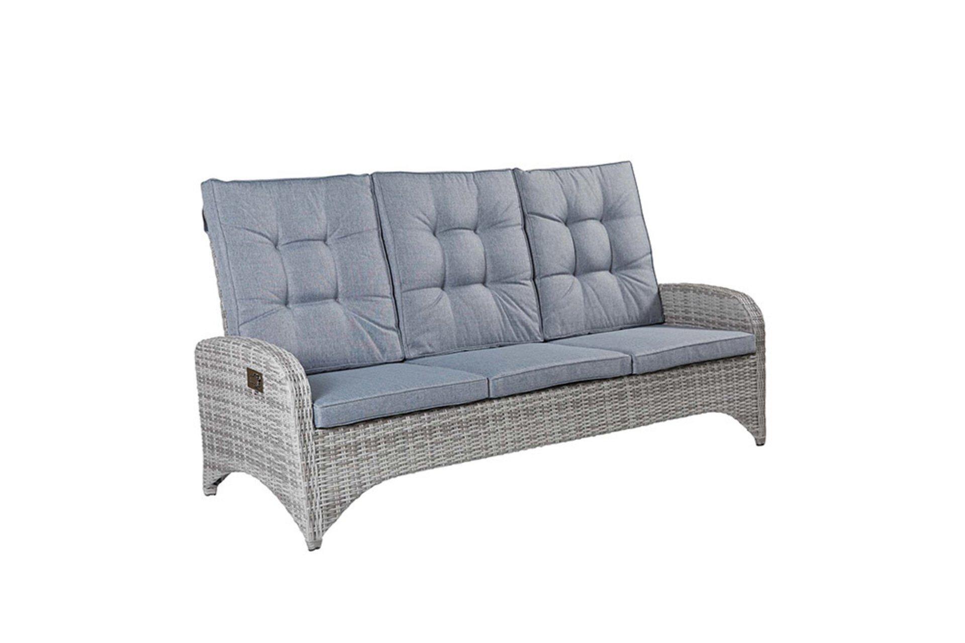 Sofa 3-Sitzer NIZZA LC Wholesaler Textil weiß