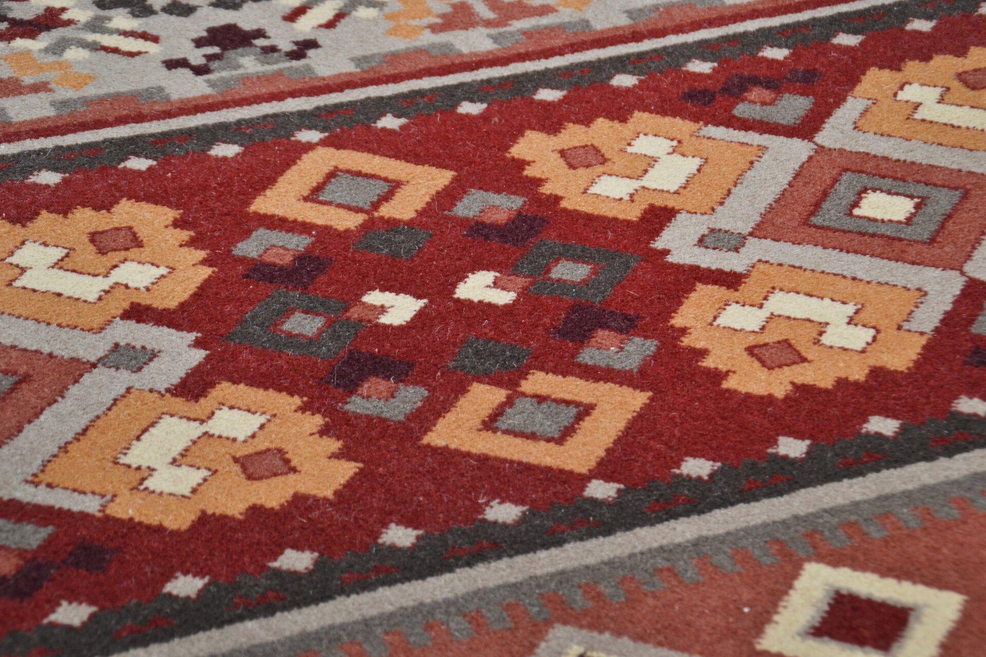 Maschinenwebteppich Timeless Theko Textil orange 1 x 2 cm