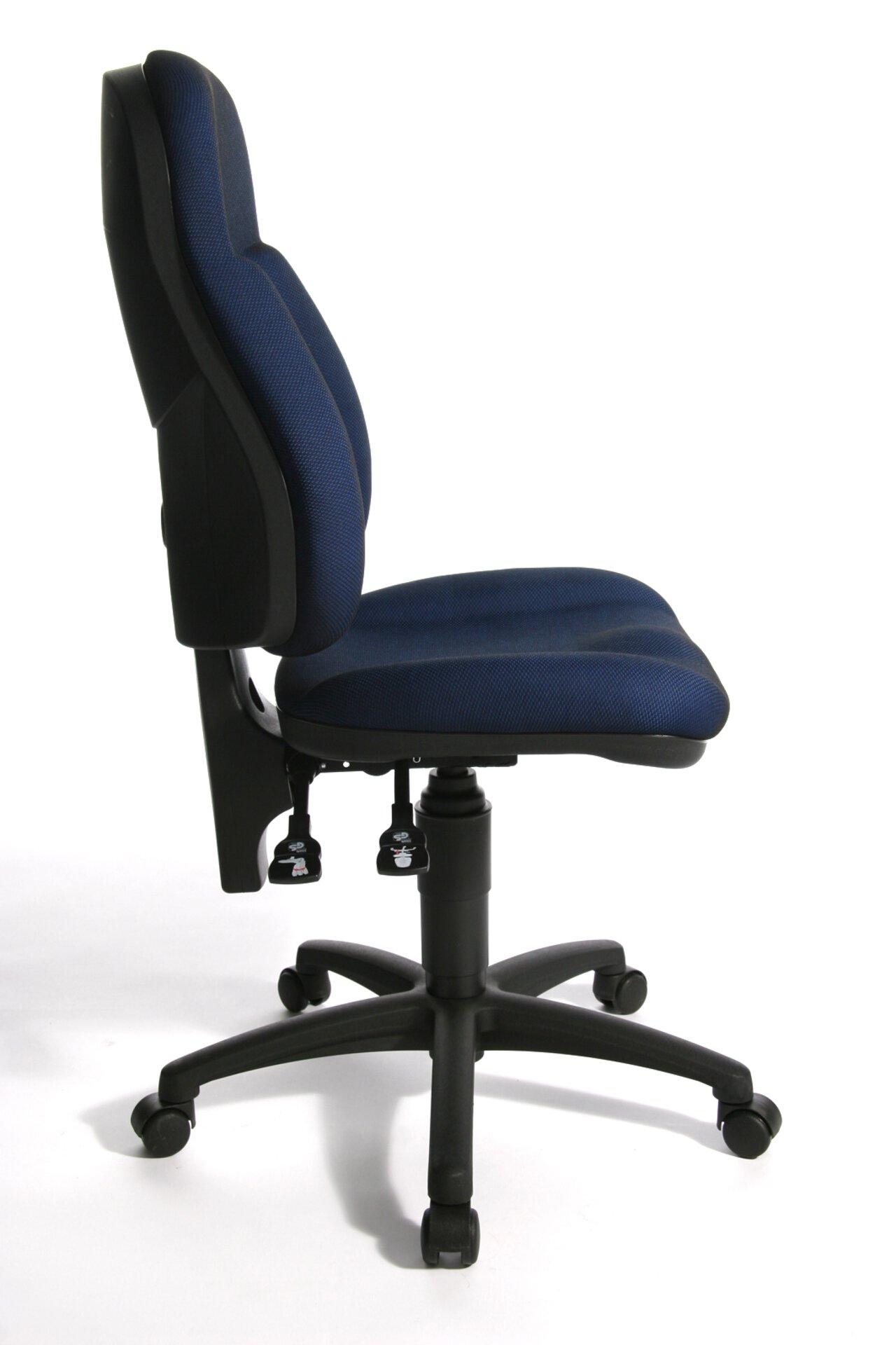 Büro-Drehstuhl WELLPOINT 10 P Topstar Textil Blau 47 x 120 x 46 cm