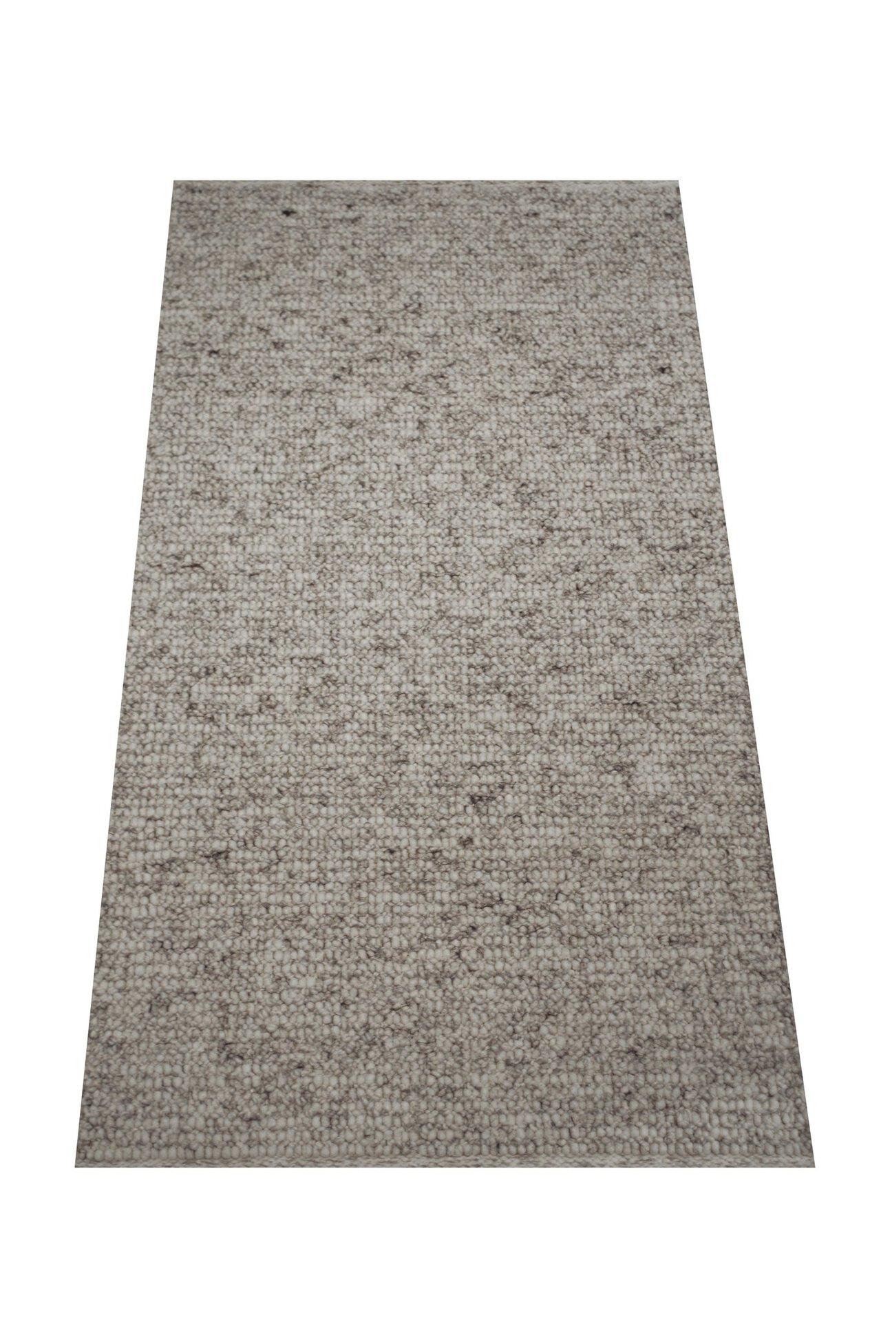 Handwebteppich Weitblick Polaris Allgäuer Teppichmanufaktur Textil grau