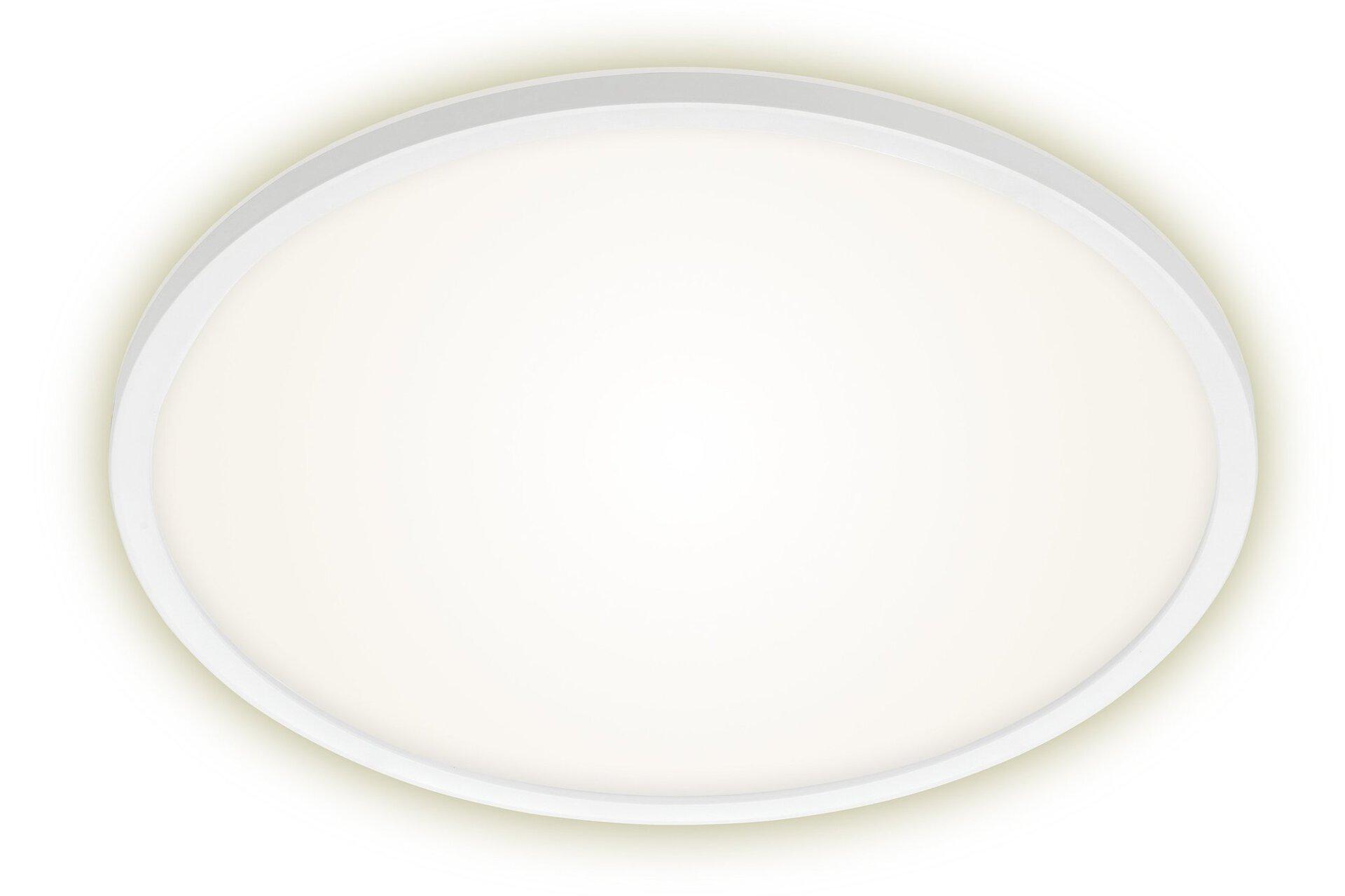 Deckenleuchte SLIM Briloner Metall weiß 42 x 3 x 42 cm
