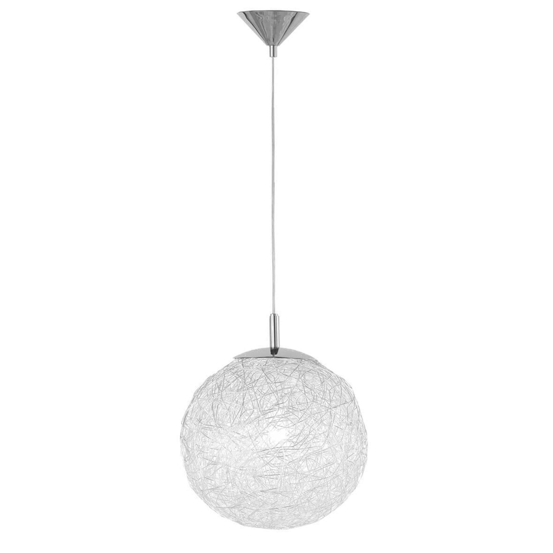Pendelleuchte Dakota Wofi Leuchten Metall silber 30 x 150 x 30 cm
