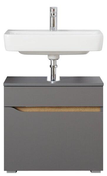 Waschbeckenunterschrank PELIPAL Holzwerkstoff Quarzgrau