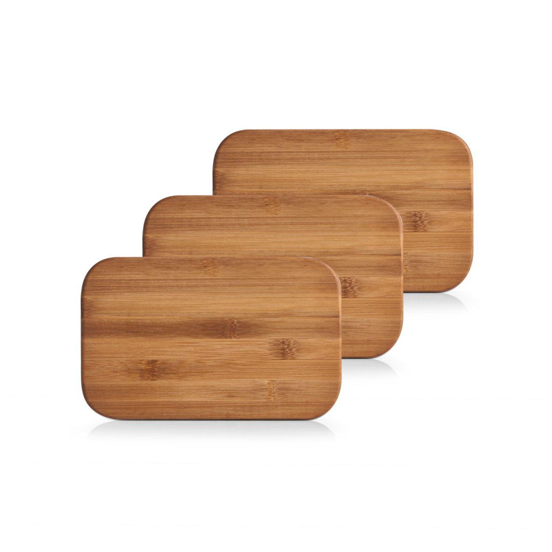 Schneidebrett Bamboo Zeller Present Holz braun 14 x 2 x 22 cm