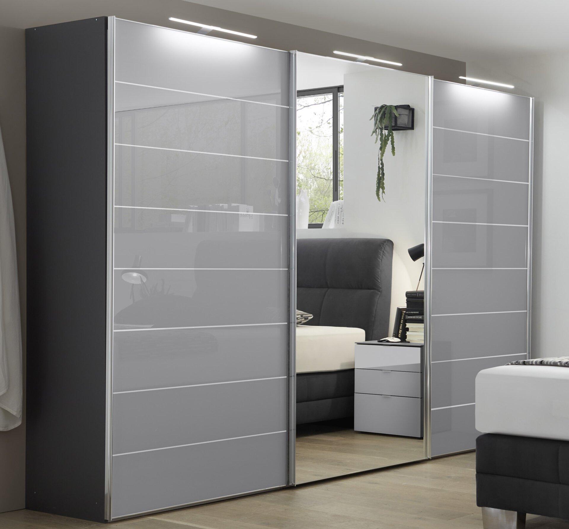 Schwebetürenschrank SERENADE COMO MONDO Holzwerkstoff grau ca. 280x222x68 cm   Möbel Inhofer
