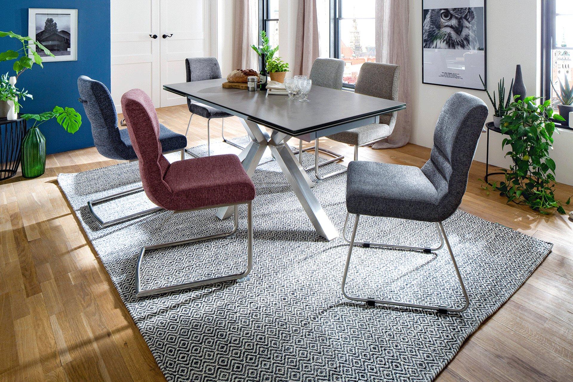 Freischwingerstuhl MONTERA MCA furniture Textil 63 x 90 x 40 cm