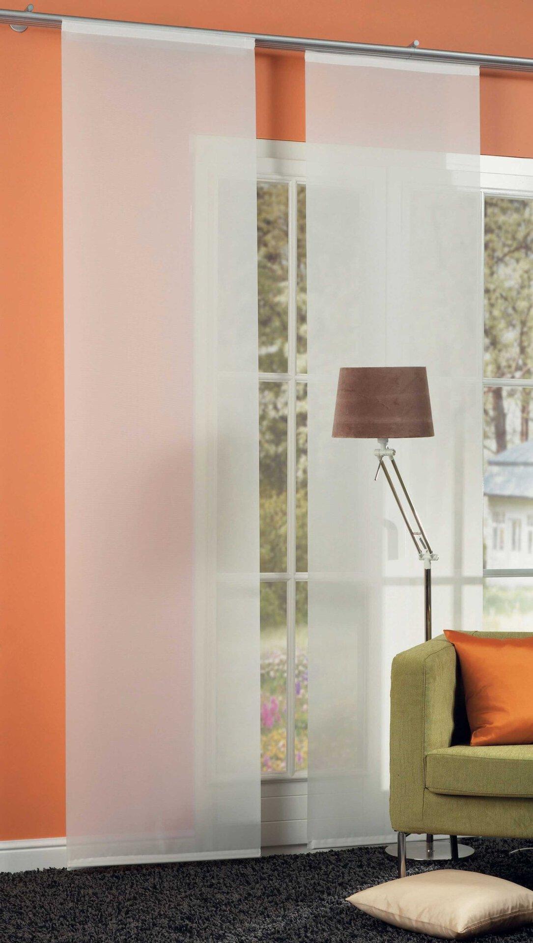 Flächenvorhang SAROS-60 Neutex Textil weiß 60 x 245 cm